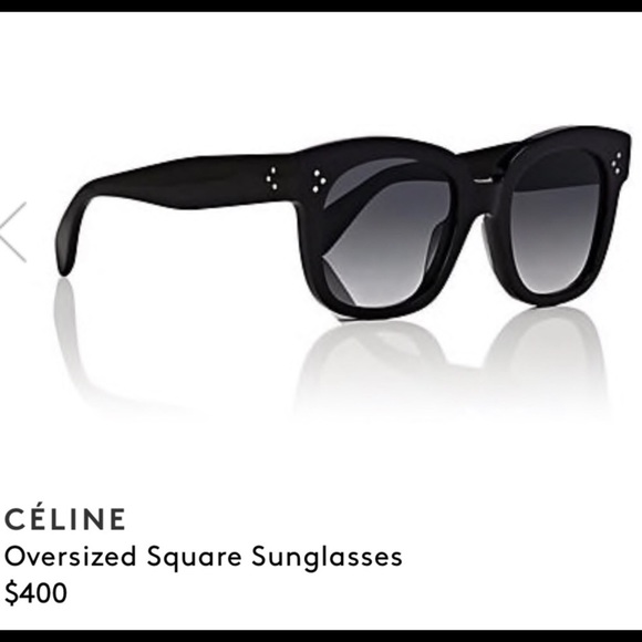 b0f2a2c15de Celine Accessories - Celine New Audrey Oversized Square Sunglasses